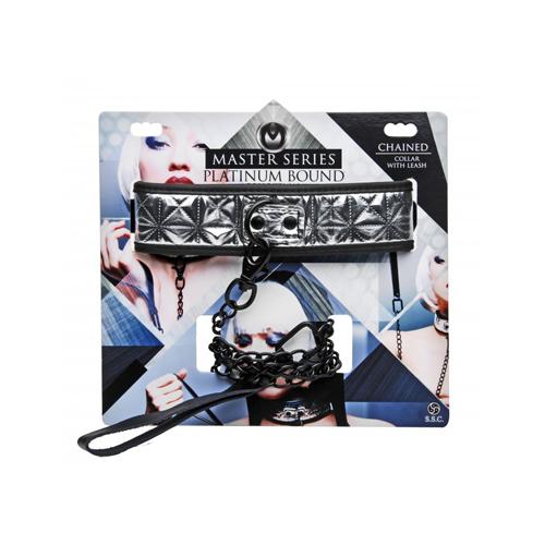 Platinum Bound Halsband Met Riem #7
