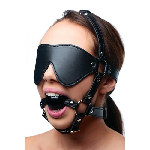 Kunstleren Masker Met Ball Gag #3