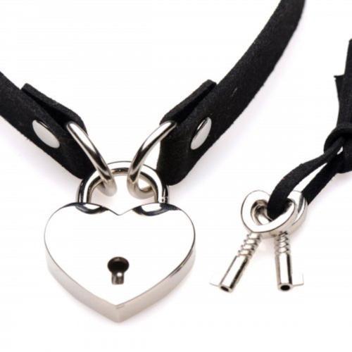 Lock-It Heart Choker Met Afsluitbaar Hartje #3