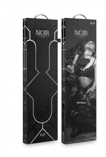 Noir - Lange Kietelaar Met Veren - Zwart #3