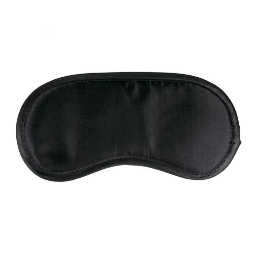 Zwart satijnen oogmasker #1