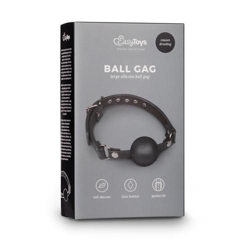 Easytoys ball gag met grote siliconen bal #3