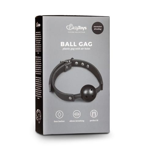 Ball gag met PVC bal - zwart #3