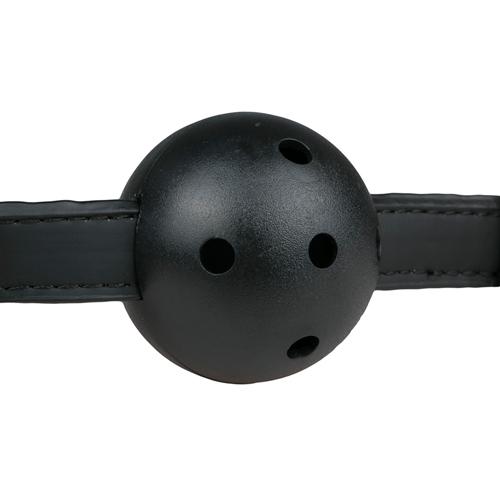 Ball gag met PVC bal - zwart #7