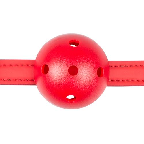 Ball gag met bal van PVC - rood #5